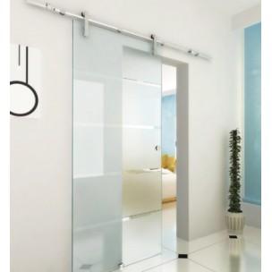 Porte coulissante en verre pas cher for Decoration porte verre