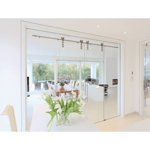 Syst me klassik mwe porte coulissante porte en verre - Porte coulissante castorama verre ...