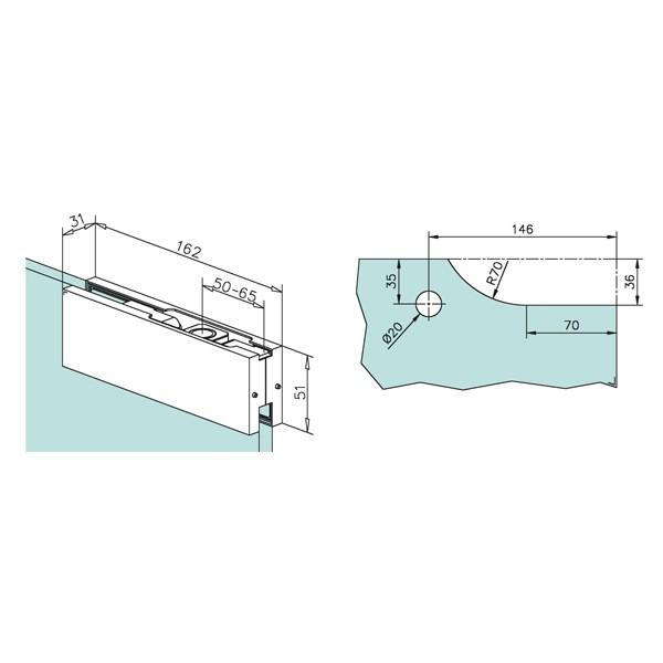 charni re sup rieure pour porte battante verre r ception. Black Bedroom Furniture Sets. Home Design Ideas
