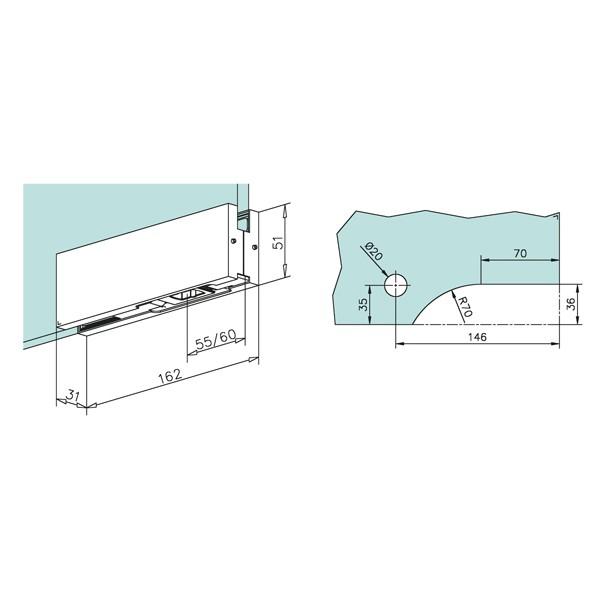 Charni re inf rieure pour porte battante verre fixation - Fixation laine de verre ...
