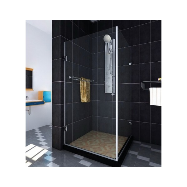 cabine de douche en inox poli ferrure verre. Black Bedroom Furniture Sets. Home Design Ideas