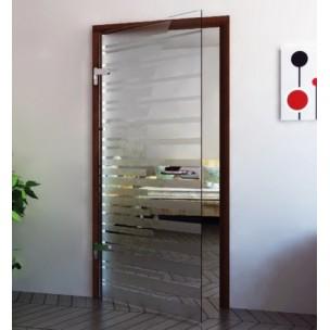 Porte verre en inox poli ferrure verre for Porte en verre